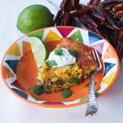 Beefy Mexican Cornbread @menumusings.com