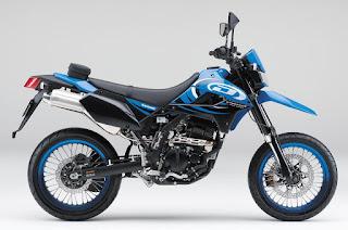 Kawasaki D-Tracker X 250 Biru
