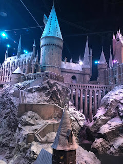 Harry Potter studio tour Leavesden Hogwarts in the snow