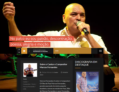 Acesse o site do cantor Marcos Fernandes