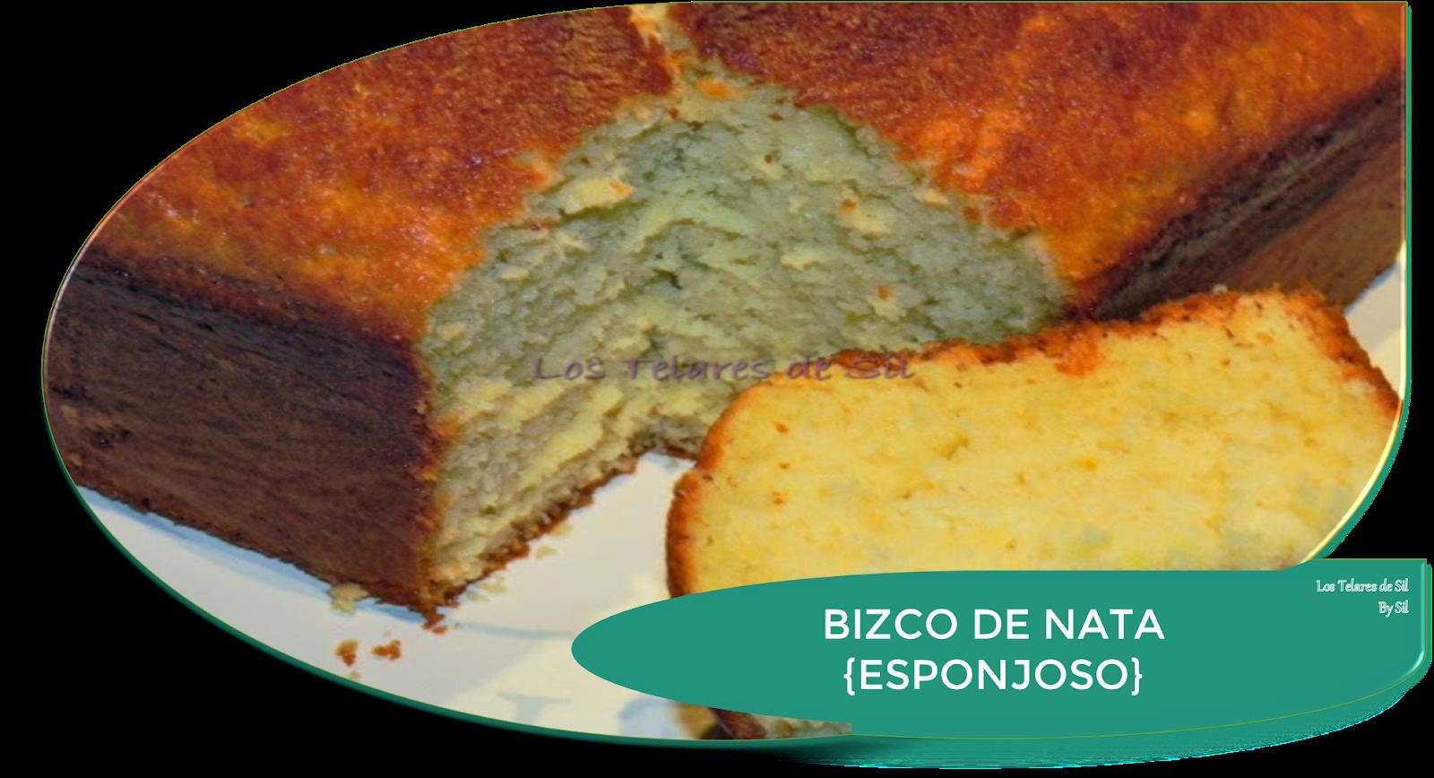 BIZCOCHO DE NATA ESPONJOSO Y MUY RICO!