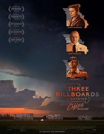 Poster Of Three Billboards Outside Ebbing, Missouri In Dual Audio Hindi English 300MB Compressed Small Size Pc Movie Free Download Only At worldfree4u.com