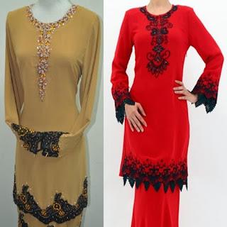 model baju kurung batik sarimbit