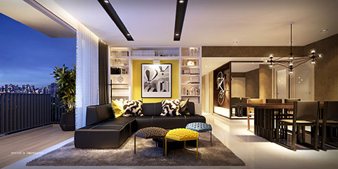 Westwood Residences - Living Dining