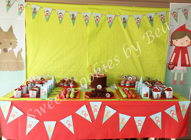 Mesa dulce Caperucita Roja