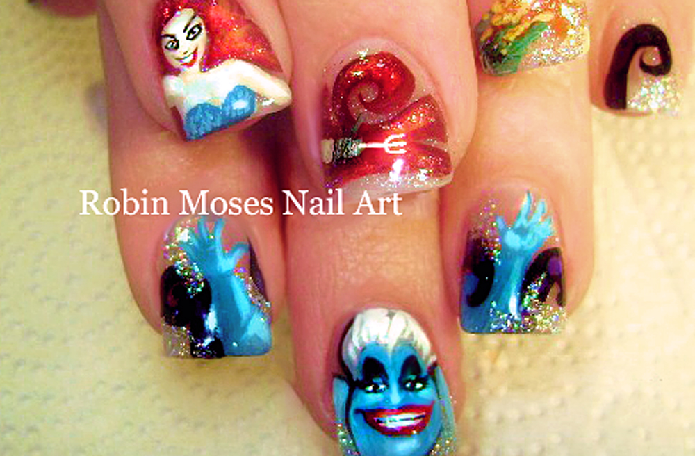Nail Art by Robin Moses: Maleficent Nails   Evil Disney Queen in the ...