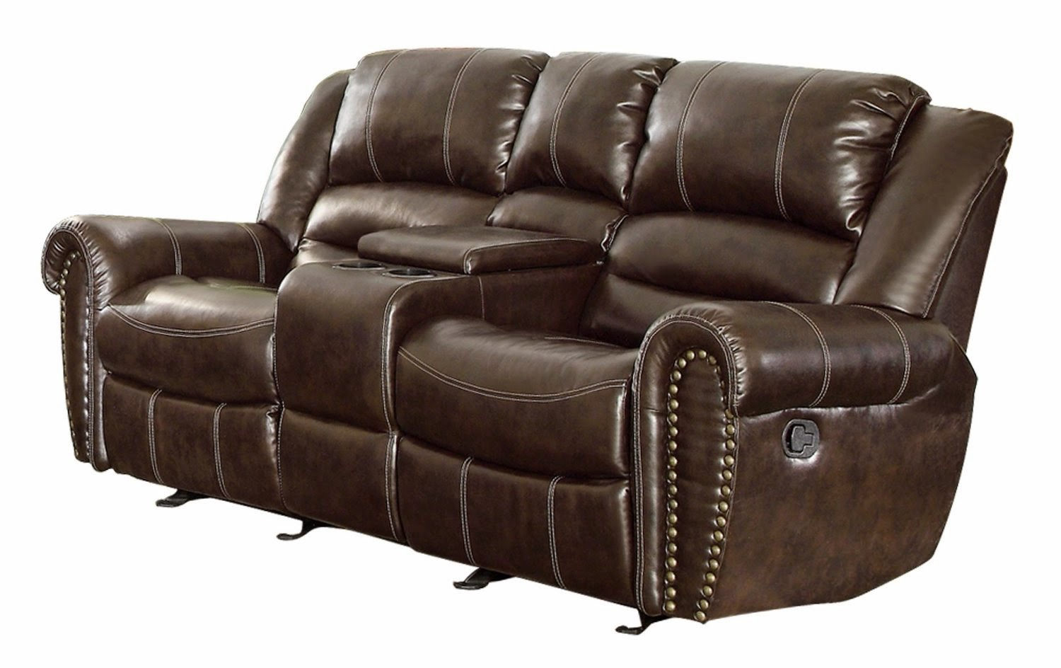 Where Is The Best Place To Buy Recliner Sofa 2 Seater Brown Leather Recliner Sofa: loveseats with console