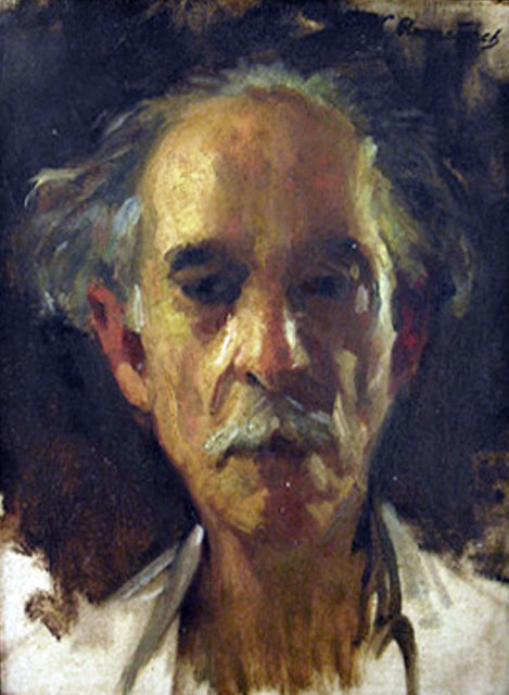Leopoldo Romañach Guillén, Self Portrait, Portraits of Painters, Leopoldo Romañach, Fine arts, Portraits of painters blog, Paintings of Leopoldo Romañach, Painter Leopoldo Romañach