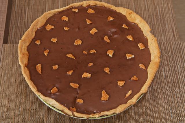 Tarte au Chocolat - Tarte au Chocolat au Lait - Œufs de Pâques - Dessert - Food - Cooking - Cuisine - Cook - Chocolate Tart - Cake - Recipe - Praliné - Hazelnut - Biscuit - Saint Michel - Galettes Saint Michel