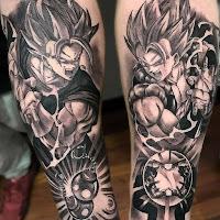 tatuaje kame hame ha blanco y negro