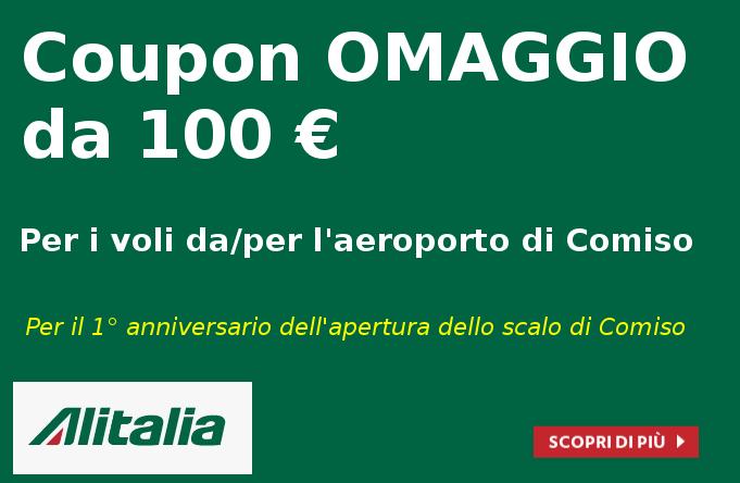 Alitalia E I 2 Biglietti Omaggio