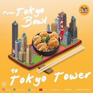 HokBen Tokyo Bowl - From Tokyo Bowl to Tokyo Tower!