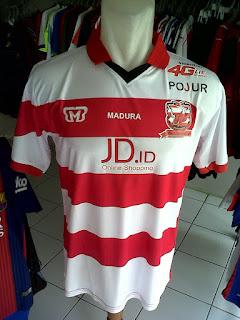 Jual Jersey Madura United Home TSC 2016 di toko jersey jogja sumacomp, murah berkualitas