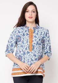 Model Baju Batik Kerja Lengan Pendek Terbaru