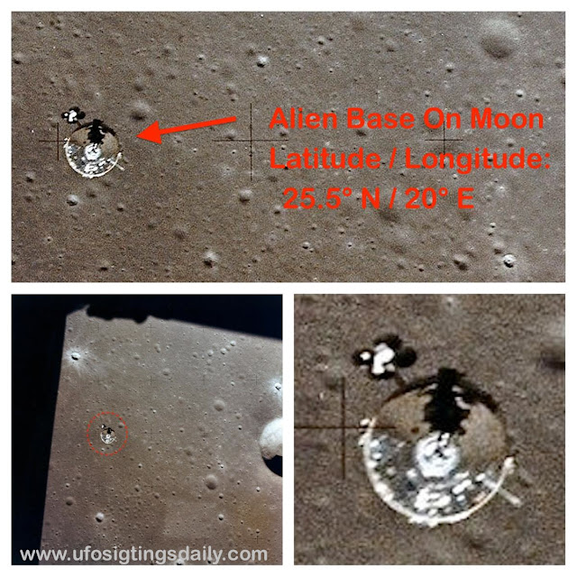 Alien Base On The Moon In Detail, Clear UFO Photos Released By NASA Taken By Astronauts, Pilot Films UFO From Air