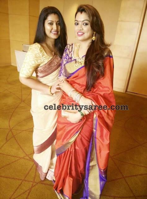 Sneha Sangeetha Latest Sarees
