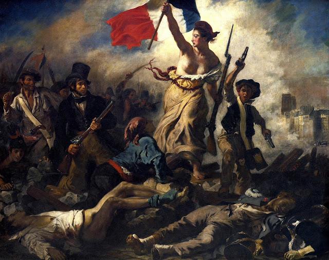 Eugene Delacroix - Libertad guiando al pueblo - 1830