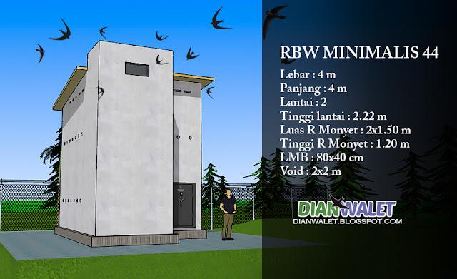 Desain Rumah Walet (RBW) Minimalis 4x4 (Full Video) | DIAN