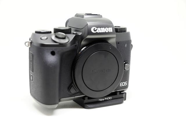Hejnar D035 QR Plate on Canon EOS M5