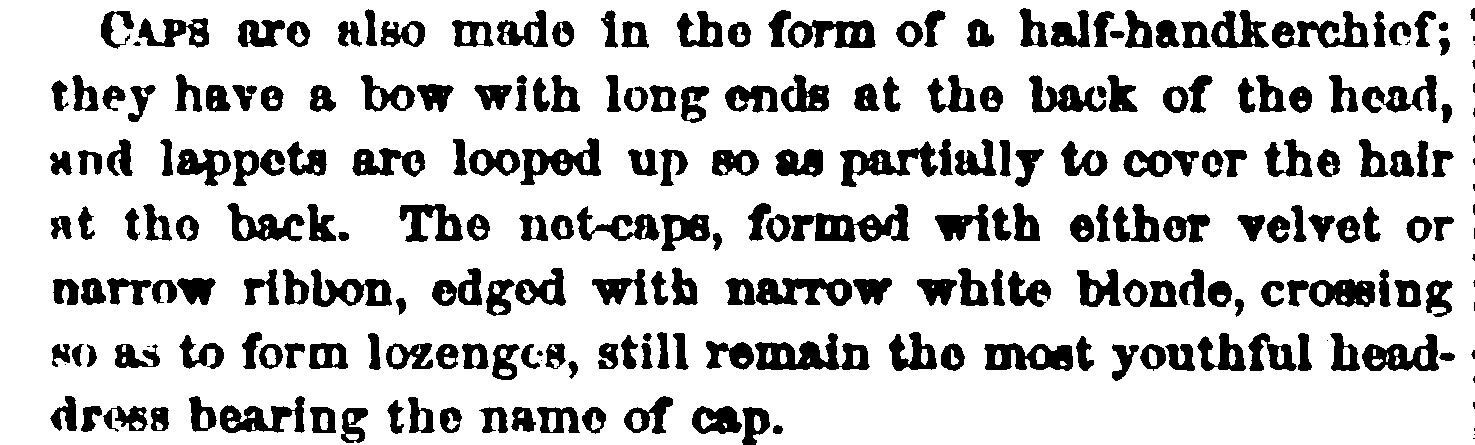 Fashion description in Peterson's Magazine, February 1865.