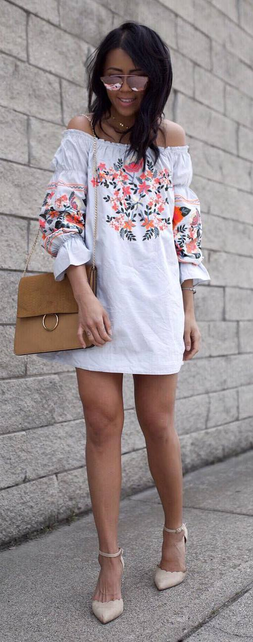 amazing summer outfit: dress + bag