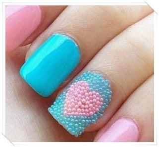 Azul, rosa e pérola caviar