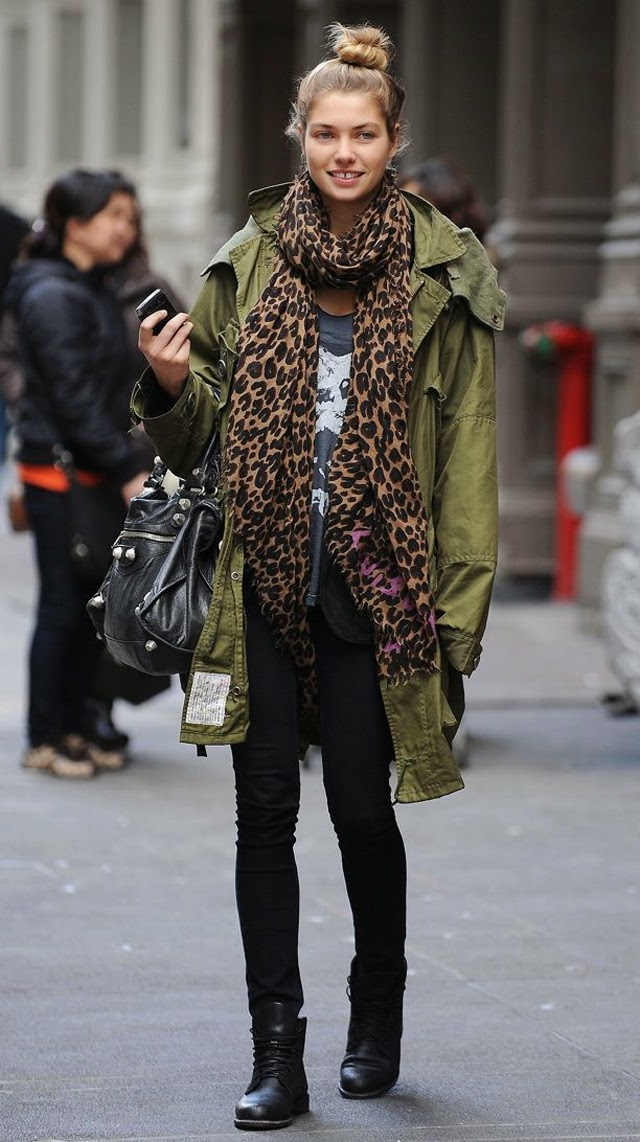 street style parka pinterest, hooded green parka, few stylish looks seen on popular bloggers and models to inspire you how ro wear parka in winter, styling s vojnickom jaknom