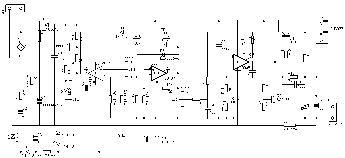 Negative Power Supply Circuit Diyfan Adjustable Lab Discussed And The Member Audioguru Proposed An Improved Schematic In Which All Flaws Were Addressed I Used His To Build My New