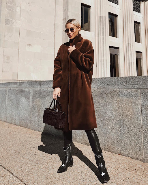 Toteme faux fur coat in brown