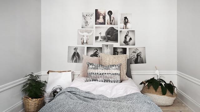 Stockholm / Stylisme monochrome pour vendre un appartement vide /
