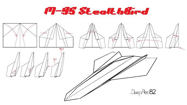 Avión de papel M-95 StealthBird