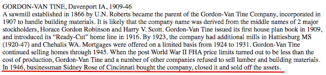 gordon van tine company sold 1946