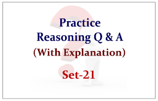 Practice Reasoning Questions (with explanation) for Upcoming Bank PO and Clerk Exams 2015 Set-21