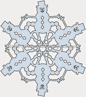 cutting file for snowman snowflake
