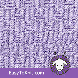 Triangles stitch pattern, just Knit and Purl stitches. #EasyToKnit