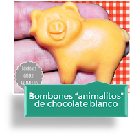 "BOMBONES ""ANIMALITOS"" DE CHOCOLATE BLANCO"