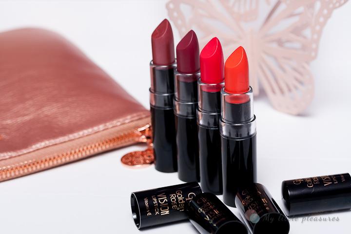 Golden Rose Vision Lipstick | Nowe odcienie 2015 (128,134,135,138)