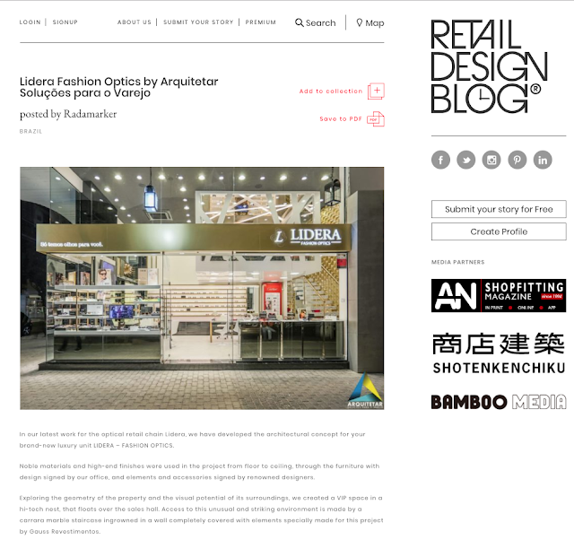 Lidera Fashion Optics no Retail Design Blog