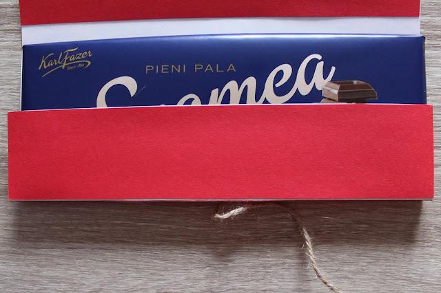 Suklaajoulukortti, sisätasku