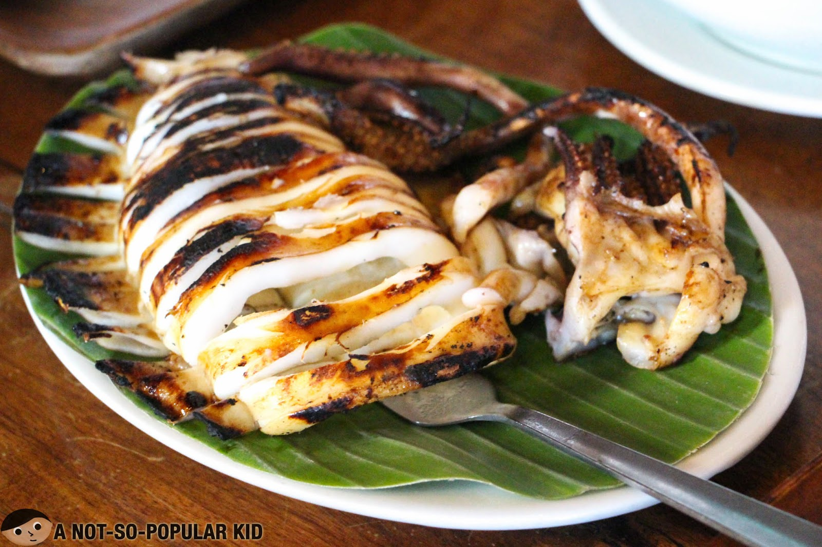 The smokey and fresh inihaw na pusit in RSM Lutong Buhay