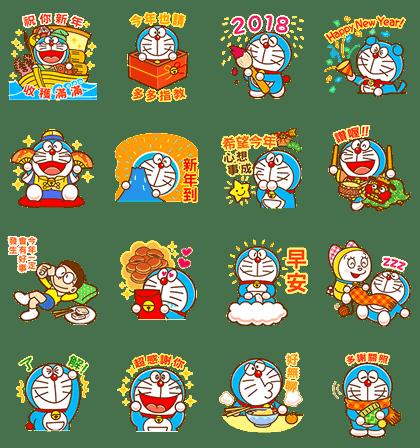 Doraemon CNY Stickers