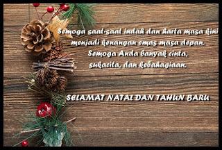 Ucapan selamat hari natal 2018 dan tahun baru