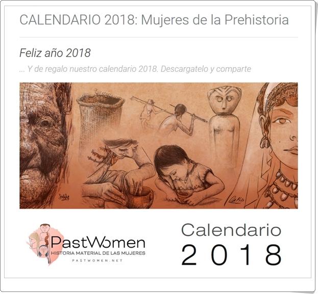 """""""Calendario 2018: Mujeres de la Prehistoria"""""""