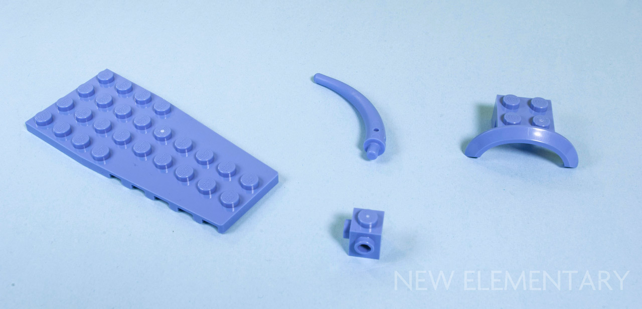 Lego Lot of 5 New Light Bluish Gray Engine Smooth Large Center Parts Pieces