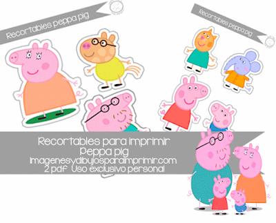 Recortables de Peppa pig para imprimir