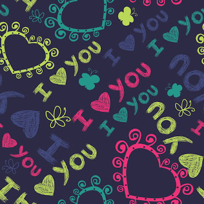 Valentines Day Hand painted Greeting Image