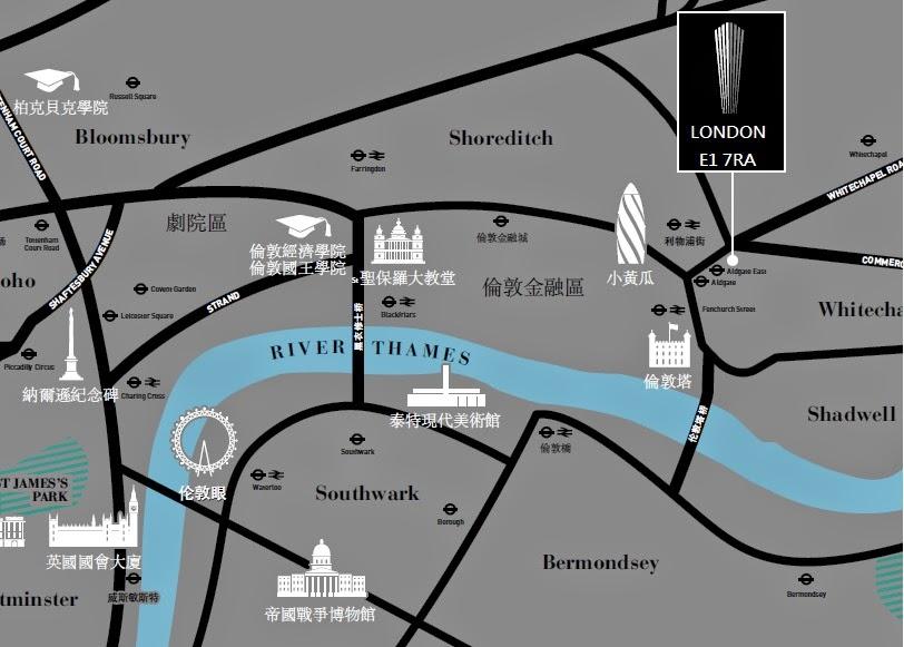 倫敦海外房地產投資地圖