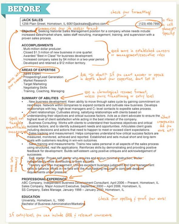 taleo resume format resume format