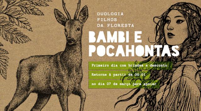 Bambi e Pocahontas em edição eco-friendly pela editora Wish