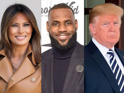 Melania Trump and Hillary Clinton praise LeBron James a few hours after President Trump attacked him in a tweet